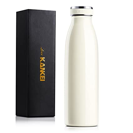 60ab0ef1e1 Love-KANKEI Water Bottle Vacuum Insulated Bottle 500ml/24hrs Cold - Stainless  Steel Double