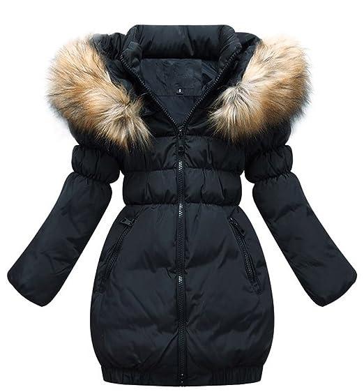 Kinder Mädchen Mantel Mit Wintermantel Winter Kunstpelz Parka Smithroad Tailliert Lang … Oberbekleidung Winterjacke Jacket DY2IeE9WH