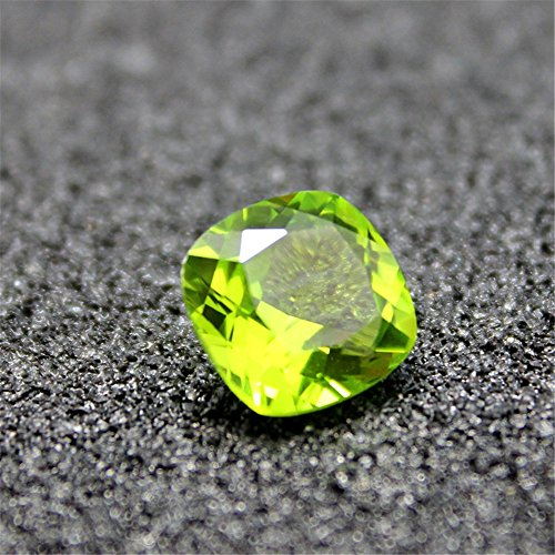 (Peridot Square Faceted Gemstone Cushion Cut Peridot Gem Multiple Sizes to Choose)
