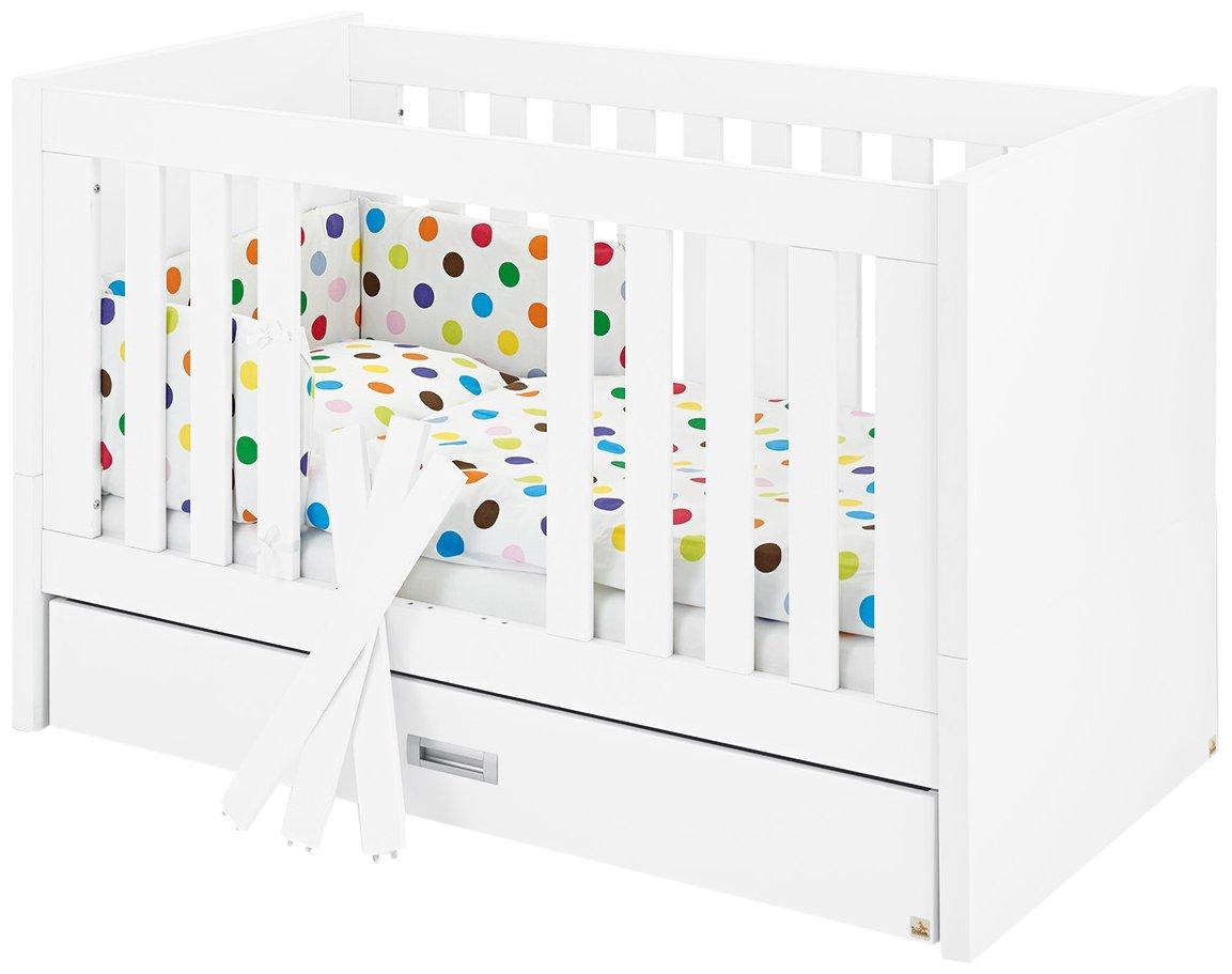 Pinolino 113405 Kinderbett Enzo Edelmatt MDF Uni, weiß und farbig lackiert