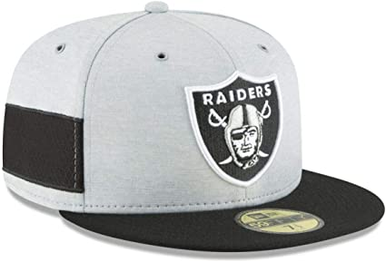 6 7//8 New Era Mens Onfield Oakland Raiders 59fifty Cap in Black