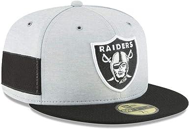 Black Sideline Oakland Raiders New Era 59Fifty Cap