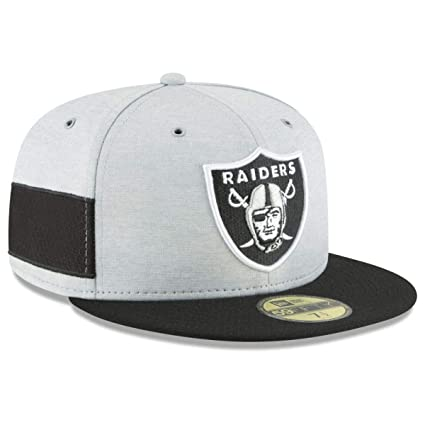 98e8491e333 New Era Oakland Raiders 2018 NFL Sideline Home 59FIFTY Fitted Hat – Heather  Gray Black