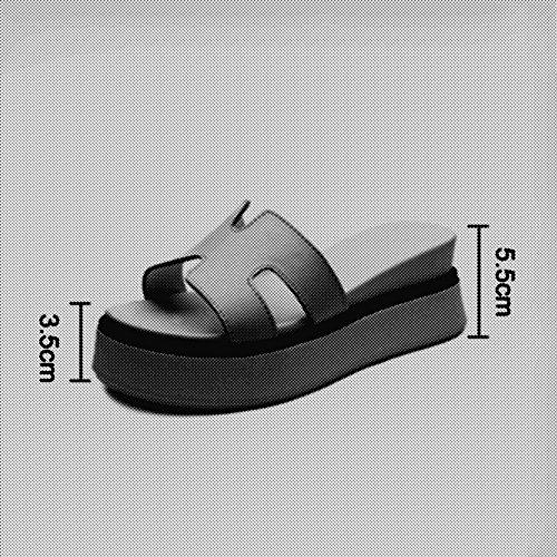 Con colore Bianco Nero Sandali Dimensioni cn36 Antiscivolo Eu36 uk4 Moda Pantofole Nuove Estate Donna Fei Nero nwS80qYvv