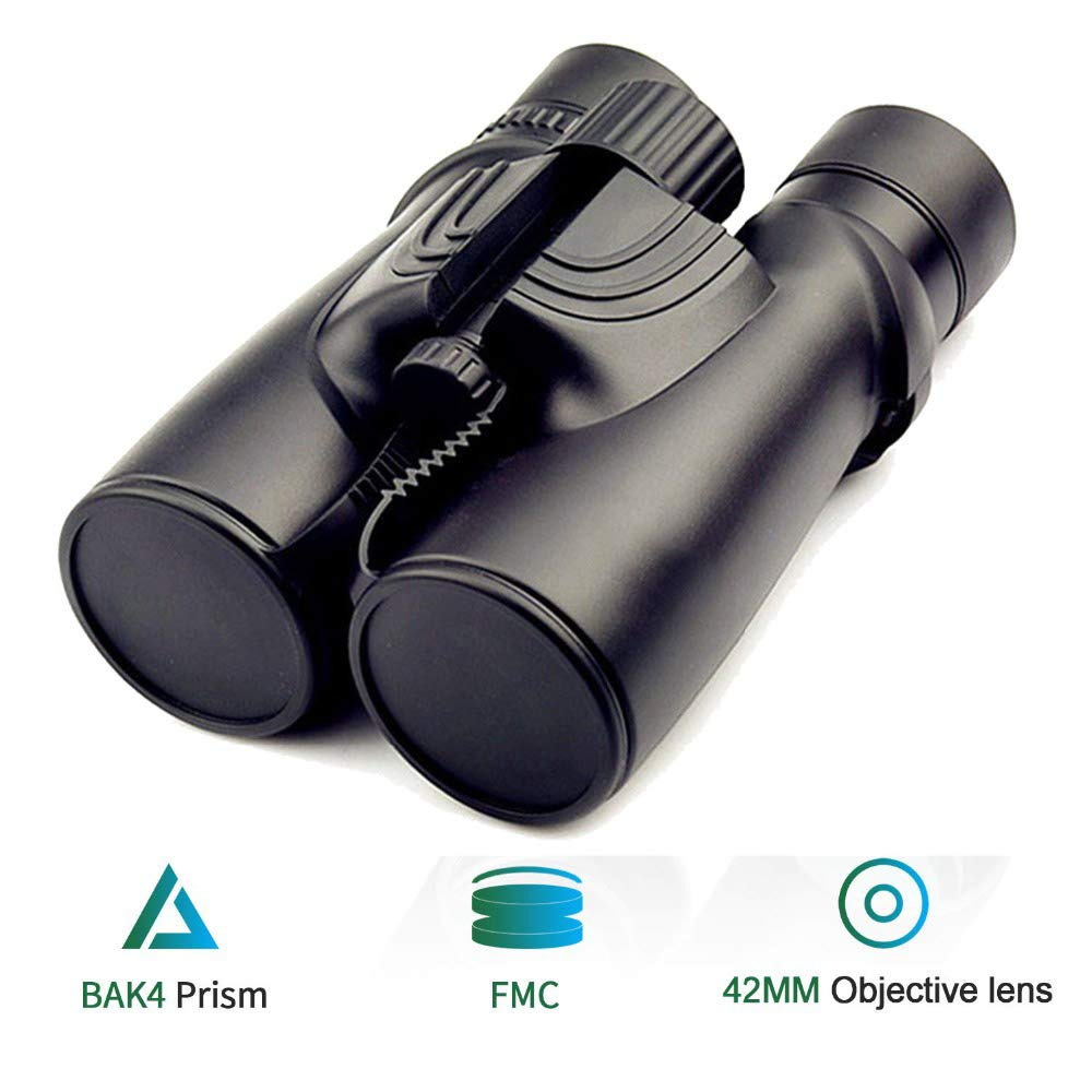 ANZQHUWAI 10X42 Binoculars New Professional Nitrogen Waterproof Telescope Powerful Bak4 Night Vision Hunting Scope Military Compact by ANZQHUWAI