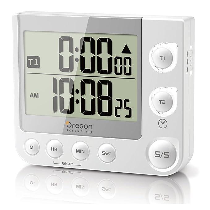 28 opinioni per Oregon Scientific TW331 Timer con LED, Colore: Bianco
