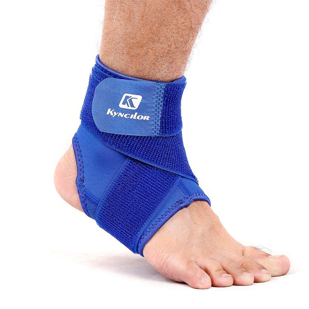 Domybest Outdoor Pressurizable Bandage Ankle Protector Foot Guard Straps Blue L