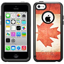 Skin Decal for Otterbox Commuter Apple iPhone 5C Case - Canada Vintage Flag