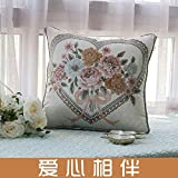 HOMEE Pillow Quilt Dual-Use Pure Cotton Continental Sofa Cushion Large Automotive Car Cool in the Summer is Multifunction Pillows Pillow ,115X145, Red,Love,145X195