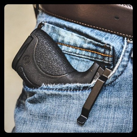 Clipdraw Ambidextrous Concealed Gun Belt Clip for Smith and Wesson M and P Shield 9MM 40 and 45 Caliber Black (9MM & .40 (Gun Clip Holster)
