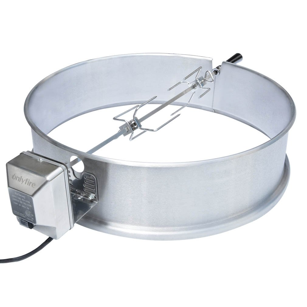 only fire Universal Stainless Steel Charcoal Kettle Rotisserie Ring Kit for Weber 2290 and Other Models by only fire