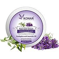 KOHAR NATURALS Eucalyptus and Lavender Oils Aromatherapy Foot Cream with Calendula, Aloe Vera, Shea butter and Cocoa…