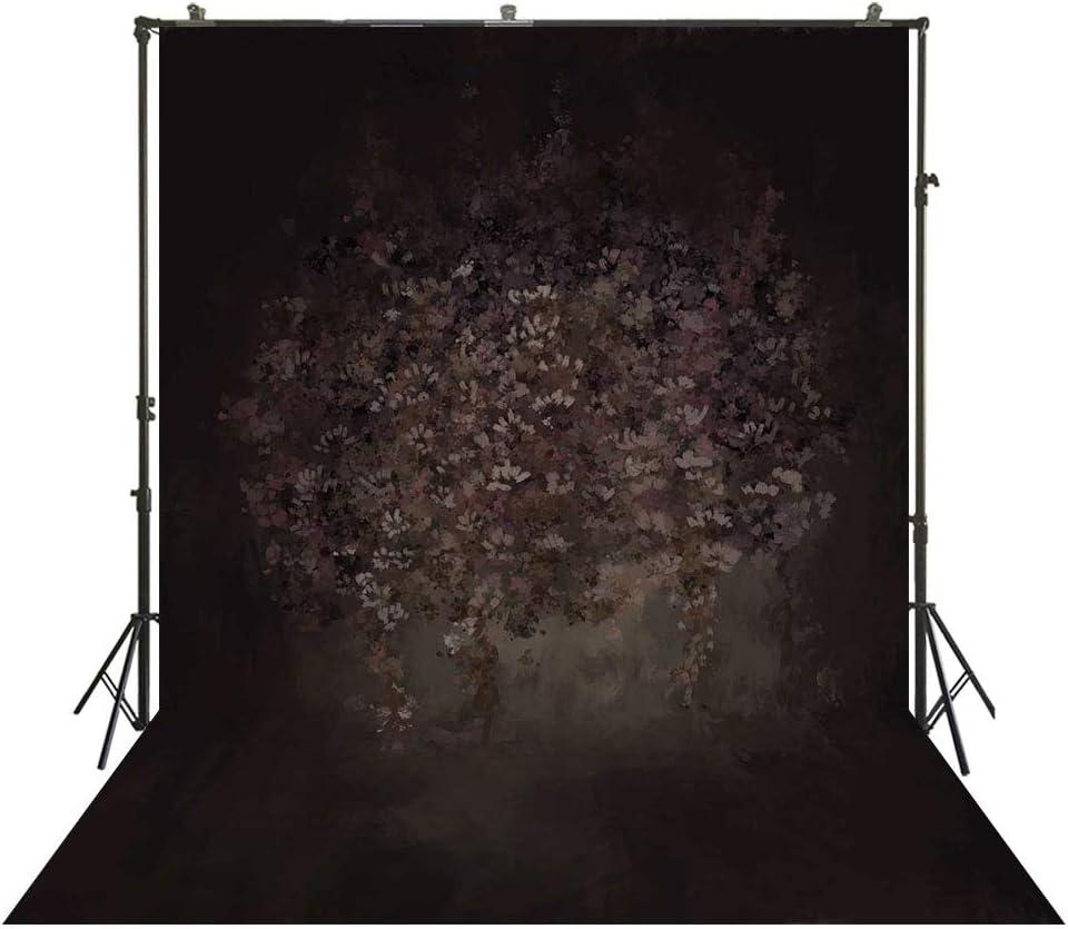 FiVan Photography Backdrop Studio 6x10ft Muslin Flower Background Dark Damask Photo Booth Cotton Cloth W-4094V