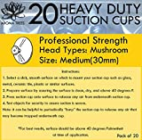 Aroma Trees Professional Strength Suction Cups 30mm (Medium - 20 Packs) without Hook