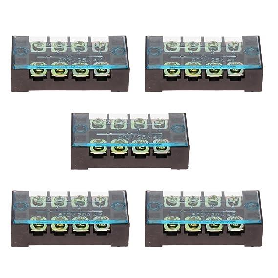 Sharplace 5 Stücke 25AMP Sperren-Reihenklemmen-Kabel ...