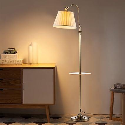 Lámpara de pie Tela de Hierro Forjado 160 * 30 cm salón ...