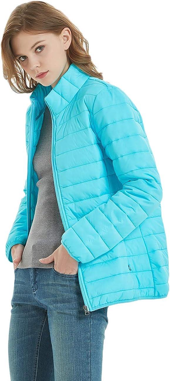 SUNDAY ROSE Womens Packable Puffer Jacket Lightweight Down Alternative Coats