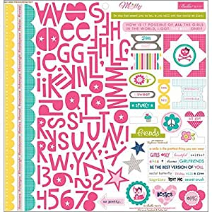 Bella Blvd Molly Cardstock Stickers, 12 by 12-Inch, Treasures and Text