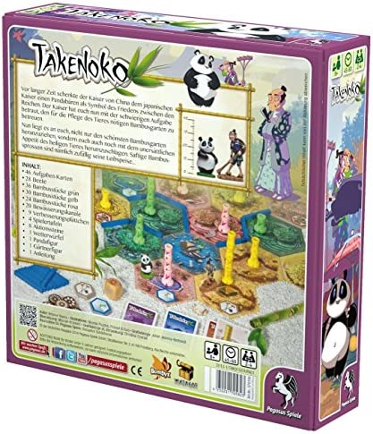 Asmodee - Takenoko, Juego de Mesa (versión en alemán): Amazon.es: Juguetes y juegos