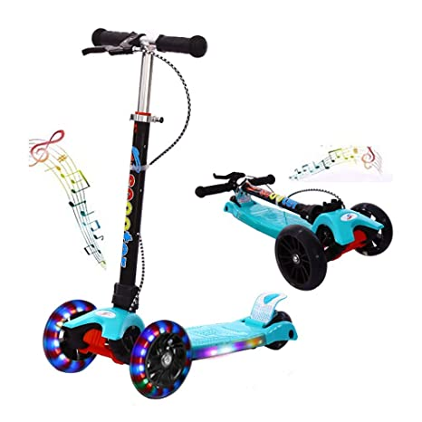 QYHSS Patinete Plegable, Mini 3 Ruedas Scooter para niños ...