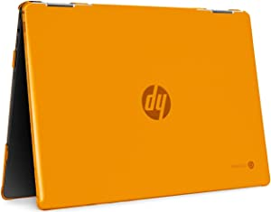 "mCover Hard Shell Case for 2020 14"" HP Chromebook X360 14b-CAxxxx Series laptops (Orange)"