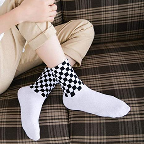 LJSDLSN Calcetines para Hombres Calcetines A Cuadros Calcetines ...