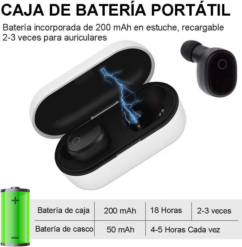 YiYunTE Mini Auriculares Bluetooth 5.0 Inalámbricos TWS Estéreo In ...