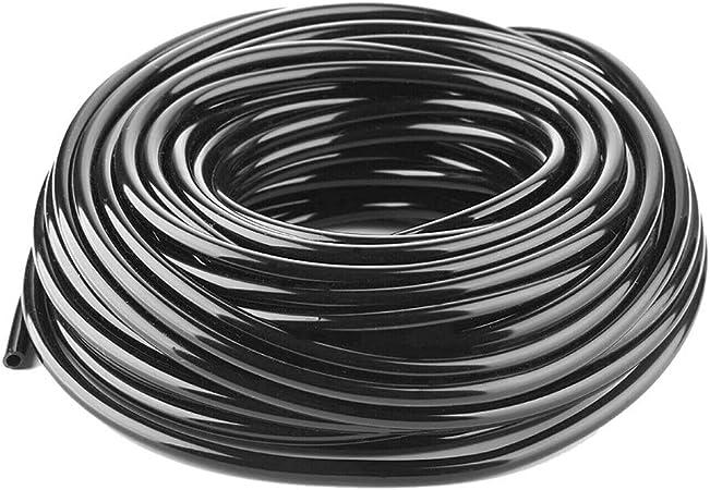 Manguera De Riego Tubo De Goteo De Jardín De 4/7 Mm Manguera De PVC Sistema De Riego por Riego For Invernaderos Balcón (Color : Black, Size : 50m): Amazon.es: Hogar