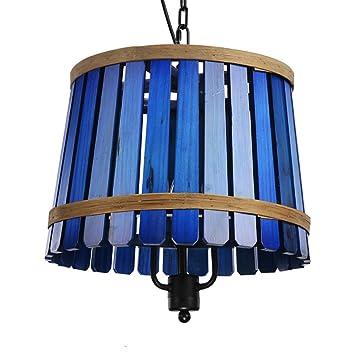 YJH Lámpara de techo de madera, una sola tabla Lámpara de ...