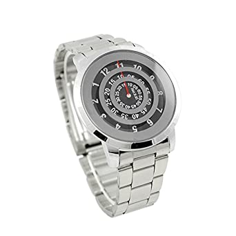 4b08ad2b1a87 Buy Style Feathers New Casual Black Dial Silver Chain Analog Wrist Watch  for Men (Black) Online at Low Prices in India - Amazon.in