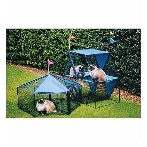 Kittywalk Carnival Outdoor Cat Enclosure - Green (Carnival Enclosure Cat)
