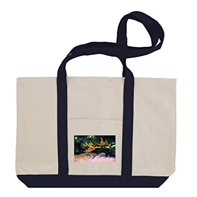 50%OFF Fatata Te Miti #1 (Gauguin) Cotton Canvas Boat Tote Bag Tote