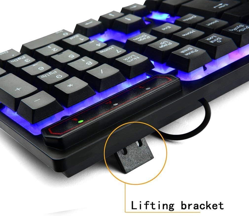Keyboard keycaps Colorful Illuminated Gaming Keyboard Hand Mechanical Floating Plastic Panel Keycap 19 Key Spedito da : LAustralia
