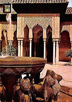 Alhambra Patio De Los Leones Granada Spain Postcard At Amazon S