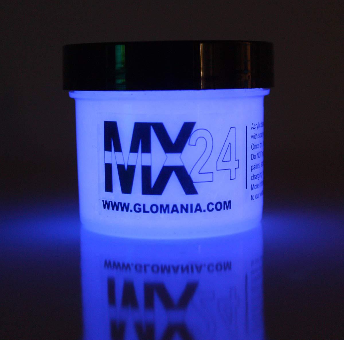 MX24 Lilac Purple Glow in The Dark Paint 1oz Photoluminescent