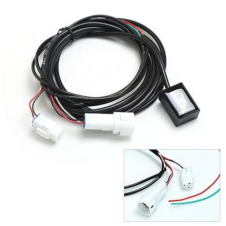 IDEA Indicador de engranaje impermeable de la motocicleta Plug & play Indicador LED verde para Yamaha: Amazon.es: Coche y moto