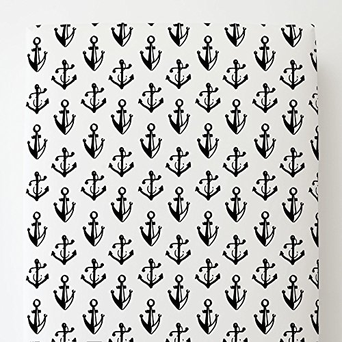 Onyx Anchor - Carousel Designs Onyx Anchors Toddler Bed Sheet Fitted