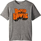The Original Retro Brand Kids Boy's David Bowie Tri-Blend T-Shirt (Big Kids) Streaky Grey Medium