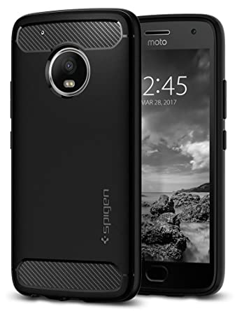 Spigen Rugged Armor Designed for Moto G5 Plus Case (2017) - Black