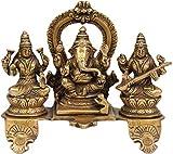 Lakshmi Ganesha Saraswati - Brass Statue