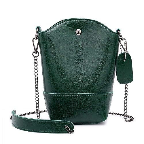 Amazon.com: Vintage Women Pure Color Leather Crossbody Bag ...