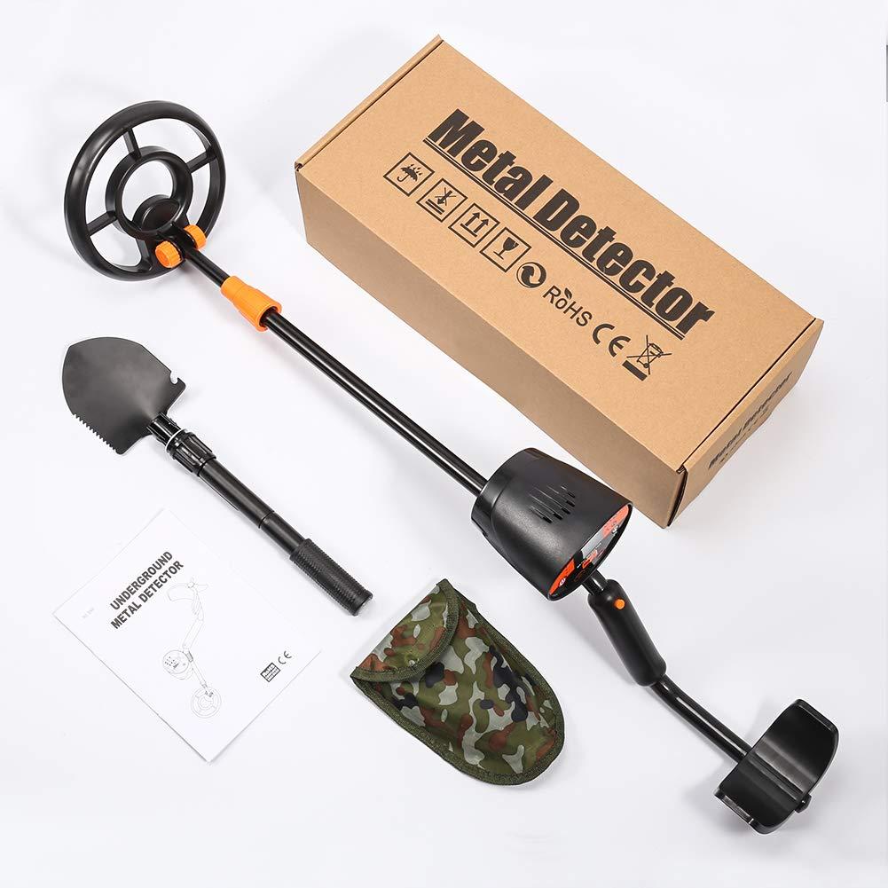 3 Modos de Busca Detector de Metales con Alta Sensibilidad Funci/ón de Pinpointer para Ni/ños y Adultos Incluye Pala Plegable Bater/ías 2x9V VOLADOR Detector de Metales Profesional