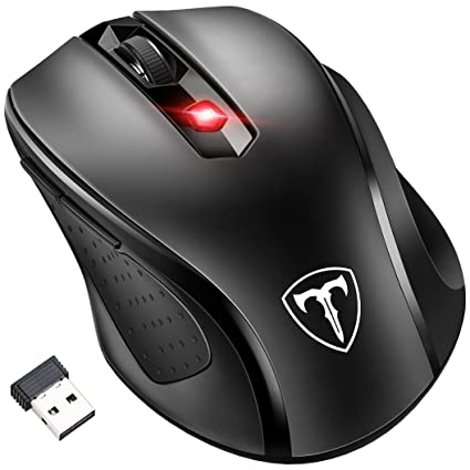 [Updated Version] Wireless Mouse, Pictek 2 4G USB Wireless Mice Optical PC  Laptop Computer Cordless Mouse, Nano Receiver, 6 Buttons, 2400 DPI for