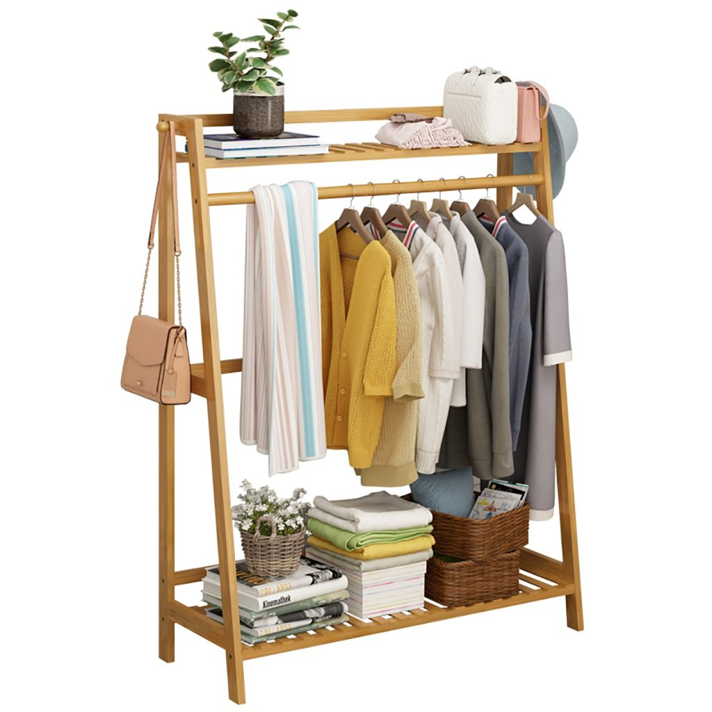 NSS Floor-Standing Coat Rack Wooden Clothes Tree Simple Hallstand Suitable for Bedroom Living Room and Other Scenes Hall Tree