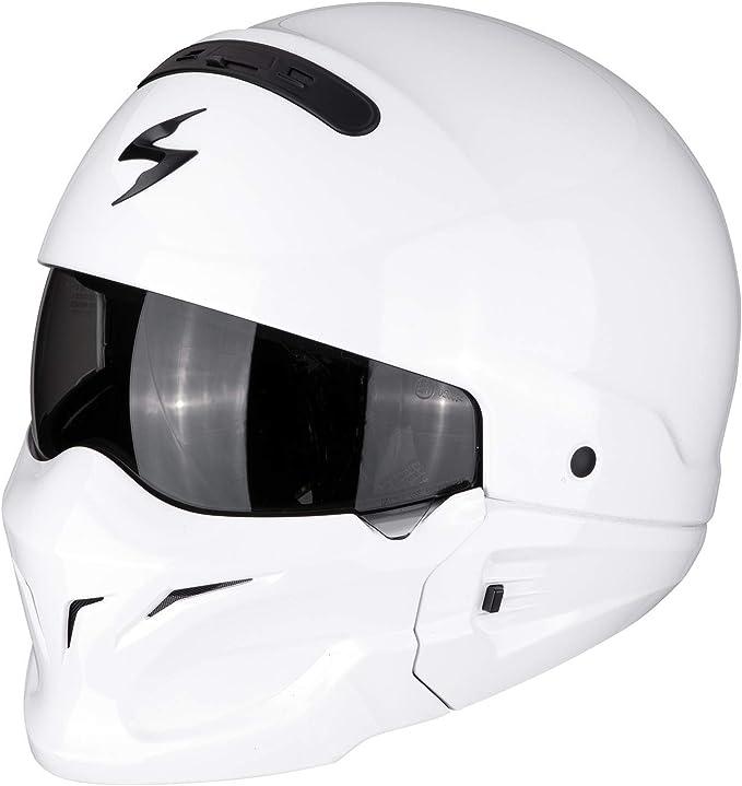 Scorpion Motorradhelm Exo Combat Solid Weiß Größe S Auto