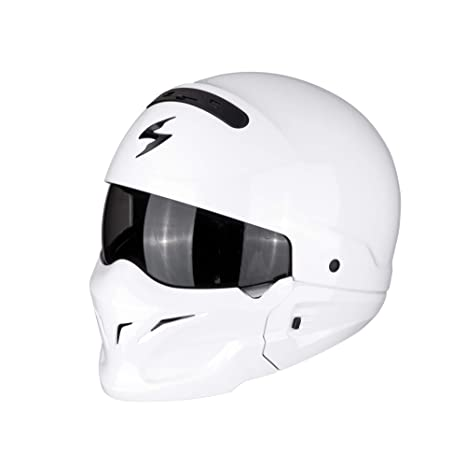 Scorpion Exo Combat cascos de motocicleta, color blanco, tamaño S