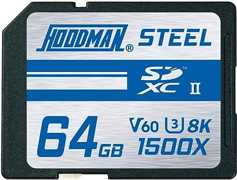Amazon.com: Hoodman Steel 128 GB SDXC 1500 X UHS II 260 Mb/S ...