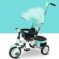 ZHAOJING Triciclo para niños Bicicleta 2-3-4-6 años de edad, niño y niña Plegables multifunción