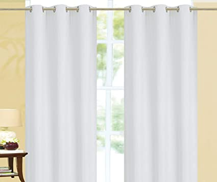 Elizabeth 100 Solid Blackout Window Curtains Thick Single Panels Overstock Sale White 108 Extra Long