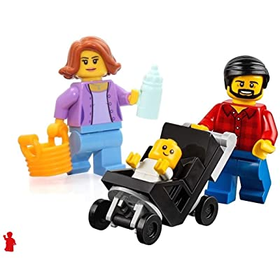 LEGO City MiniFigure: Combo Package (Mom, Dad, & Baby in Stroller) 60134: Toys & Games